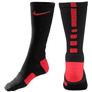 ELITE CREW SOCKS BLACK/RED (XL) Nike